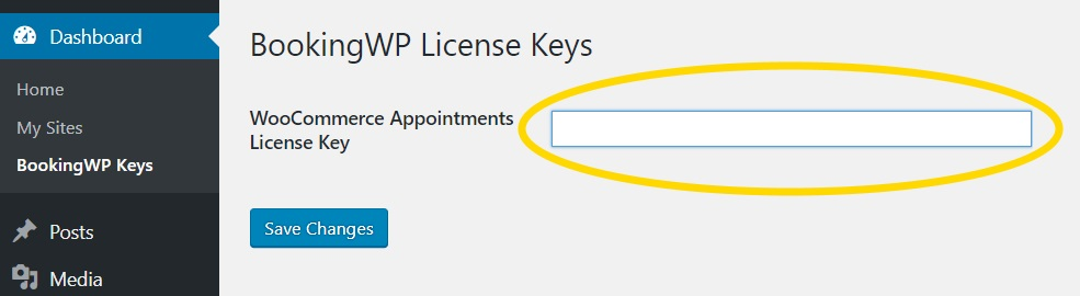 WooCommerce Appointments License Key