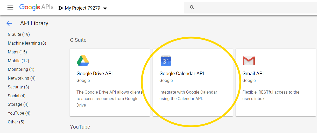 GOOGLE CALENDAR API EXAMPLE ANDROID - Fournisseur pour