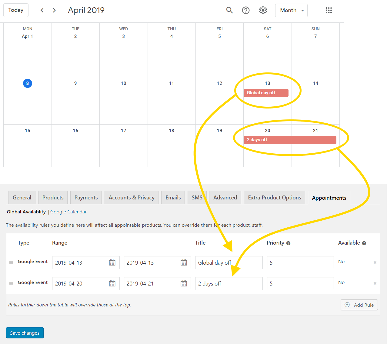 Appointments – Google Calendar Two-way Sync – BookingWP™